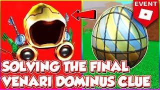 SOLVING THE FINAL DOMINUS VENARI CLUE!! WHO WILL GET IT!? - Roblox Ready Player One