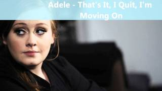 Adele - That
