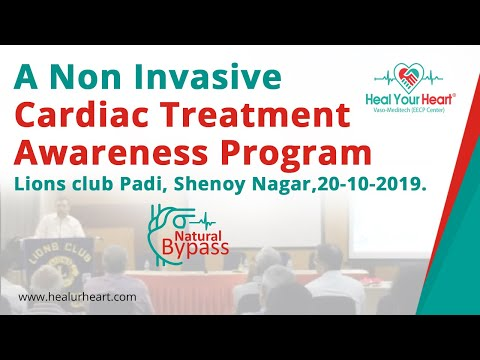 eecp awareness program heart treatment without bypass surgery lions club padi 20 10 2019