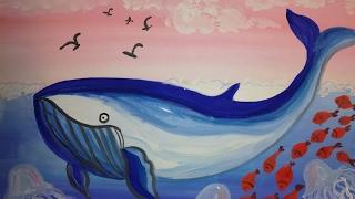 Как нарисовать кита