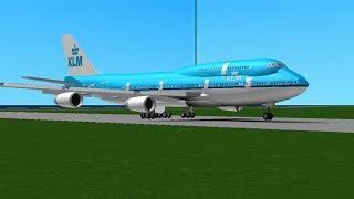 ROBLOX / [757 Update!] 2013 Flight Simulator / [TEST FLIGHT] Boeing 747 KLM Flight LAX-JFK