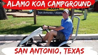 San Antonio Texas Alamo KOA Tour - RV Full Time