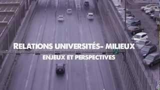Relations universités-milieux: enjeux et perspectives