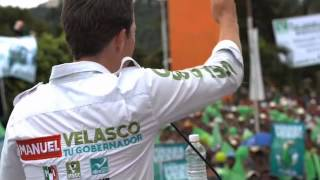Manuel Velasco Coello visitó el municipio de Jaltenango, Chiapas.