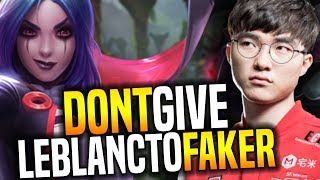 That's What Happens When You Give to Faker Leblanc! - SKT T1 Faker SoloQ Playing Leblanc
