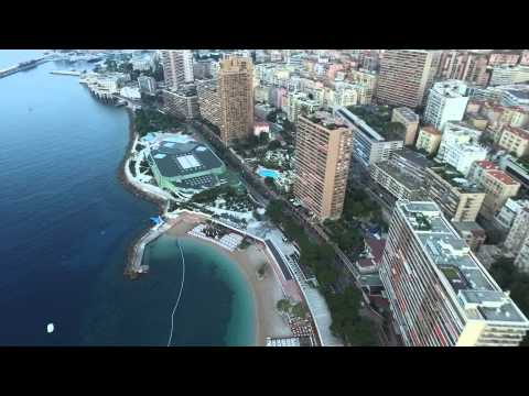 DJI Flying over Monaco for half an hour before dawn. 2015 07 06