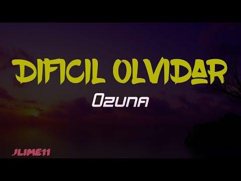 Ozuna – Dificil Olvidar (Letra) 4k