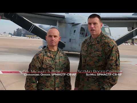 DFN:SPMAGTF-CR-AF Leaders Wish the Spanish Marine Corps a Happy Birthday, MORON AIR BASE, 02.19.2018