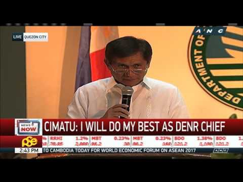 New DENR chief Cimatu vows to 'safeguard' mining laws
