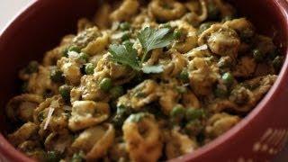 Spinach Tortellini W/ Pesto & Peas Recipe || Kin Eats