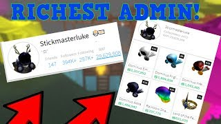RICHEST ADMIN ON ALL OF ROBLOX!! (65 MILLION ROBUX VALUE!)