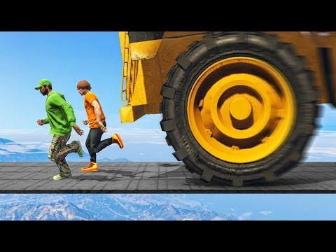 1000MPH TRUCK vs RUNNERS! (GTA 5 Funny Moments)