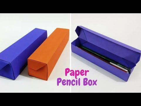 DIY- Origami Pencil Box Tutorial | How to make a Paper Pencil Box | Craftastic