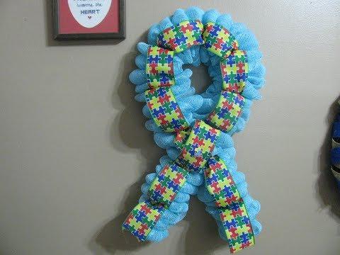 How To Make Carmen's Autism Awareness Ribbon Wreath
