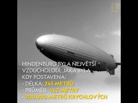 Konec Vzducholodě Hindenburg