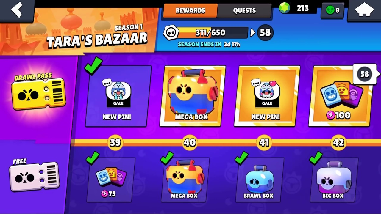 BOUGHT NEW ONE BRAWL PASS AFTER THE UPDATE IN BRAWL STARS