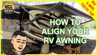 RV Awning Canvas And Arm Alignment - How To Adjust And Fix – RV 5 Minute Tech Tips & Tricks