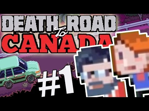 Lets Play Death Road To Canada Part 1 (Blind PC Gameplay 2 Player Coop Multiplayer) Retro Zombie Fun