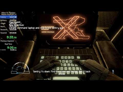(World Record) Aliens Vs. Predator (2010) Speedrun Any% Marine (IGT) 57mins 07s