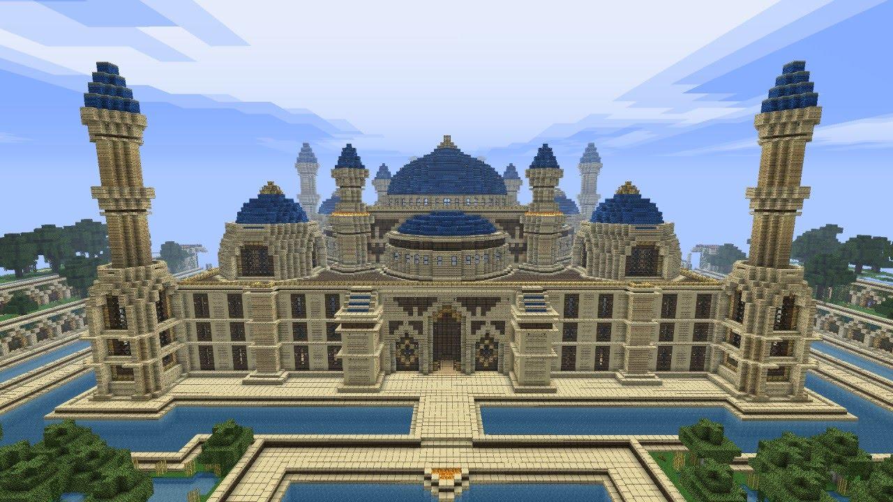 Большой дом в майнкрафте карта
