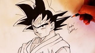 Como Desenhar o Goku [Dragon Ball Super] - (How to Draw Goku) - SLAY DESENHOS #131