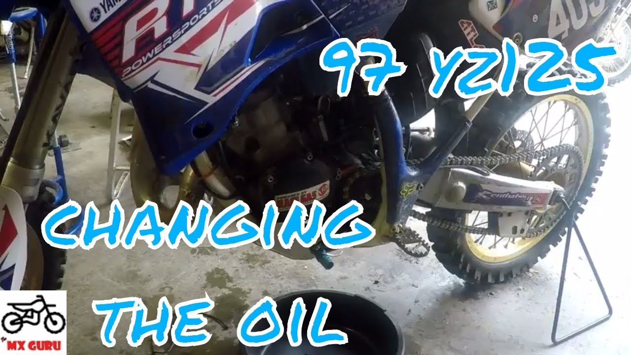 Yamaha YZ 125 1997 OIL CHANGE TUTORIAL ~ Basic Motocross Dirtbike  Maintenance
