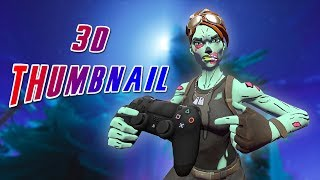 [Speed Art] 3D Fortnite Thumbnail! FREE PSD