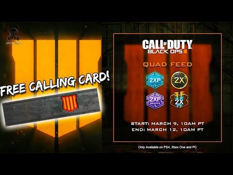 black ops 4 free calling card in black ops 3 quadfeed event in