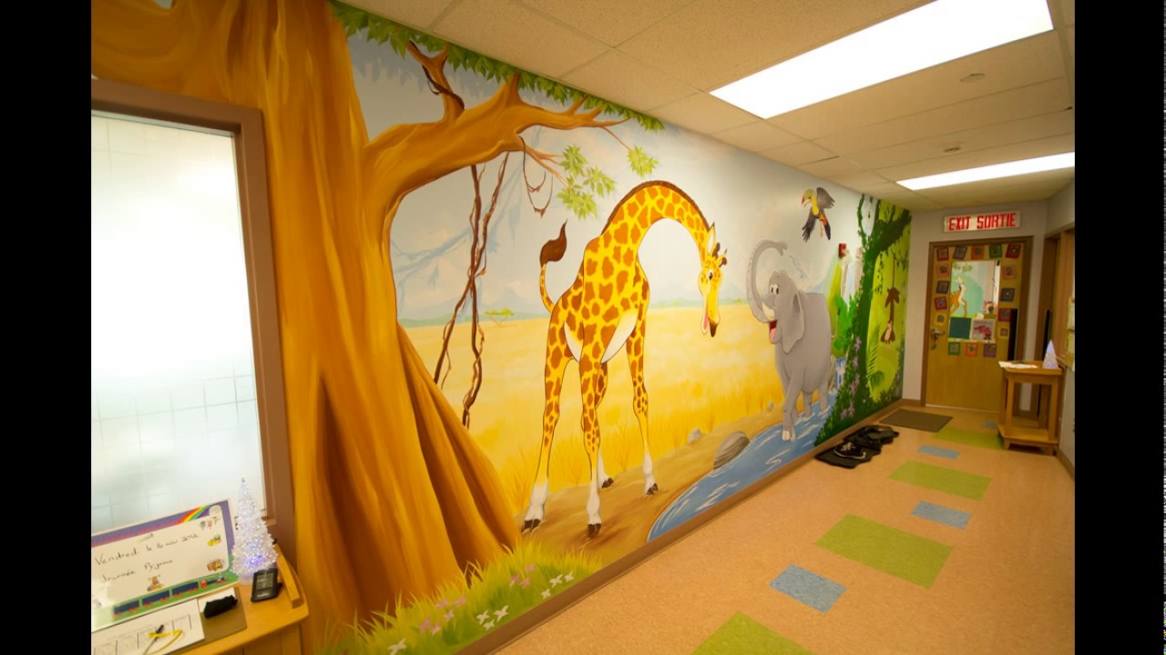 Playschool Wall Painting & Decorating - YouTube