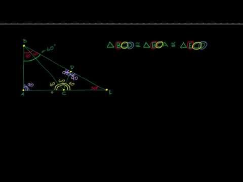 Calculando os ângulos de triângulos congruentes (Exemplo 1)