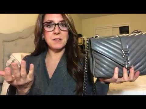 Wear and tear of my medium Saint Laurent College Monogram Bag - YouTube 6fea361aeae1d