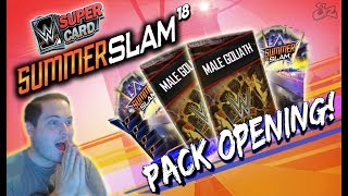 Video SUMMERSLAM 18 (SS 18) PACK OPENING!! AWESOME PACKS! | WWE SuperCard download MP3, 3GP, MP4, WEBM, AVI, FLV Agustus 2018