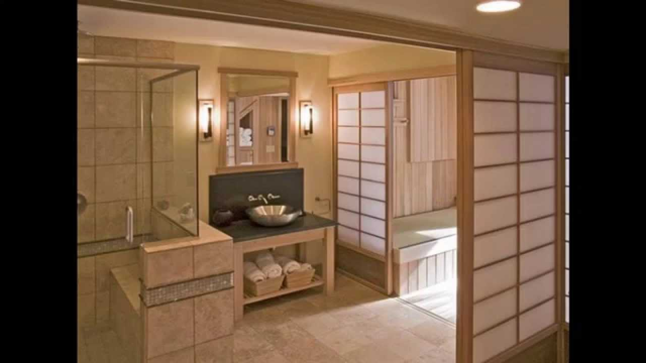 Japanese style bathroom design and decor ideas