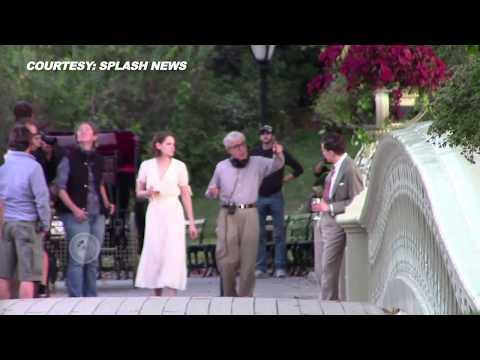VIDEO Kristen Stewart - Jessie Eisenberg Shoot For The Untitled Woody Allen Project