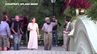 VIDEO Kristen Stewart - Jessie Eisenberg Shoot For The Untitled Woody Allen Project