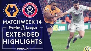 Wolves v. Sheffield United | PREMIER LEAGUE HIGHLIGHTS | 12/1/19 | NBC Sports