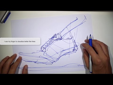 16 Tips on how to draw a shoe - Adidas sneaker design