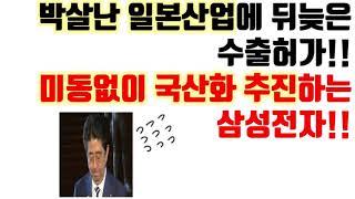 박살난-일본산업에-뒤늦은-수출허가-미동없이-국산화-추진하는-삼성전자