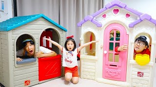 Boram and the new playhouse with funny friends