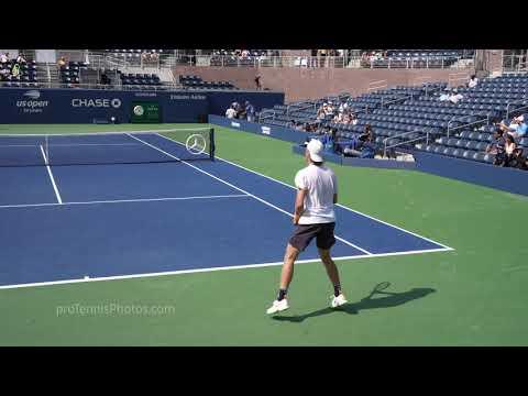 Denis Shapovalov, 2018 US Open practice, 4K
