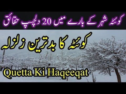 Quetta City Information 20 Amazing Facts About Quetta Ki Kahani Quetta History Urdu/Hindi