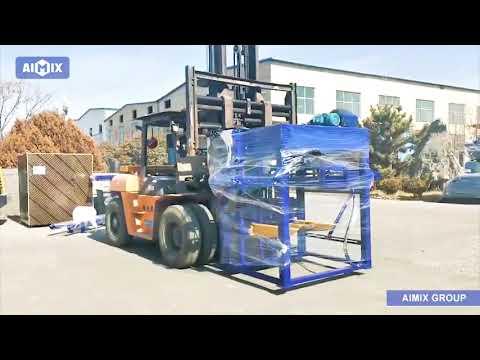 Aimix Concrete Block Machine Sent to Dominica