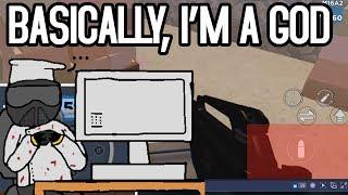 PLAYING MOBILE ON A COMPUTER | Arsenal Roblox (no joke)
