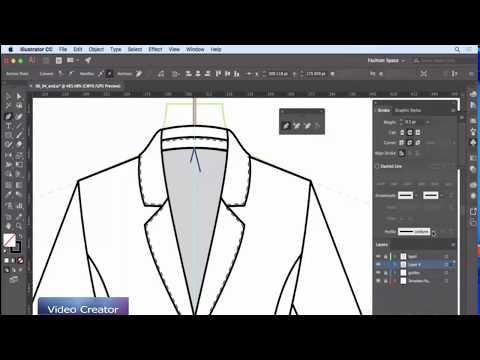 Illustrator tutorial: Drawing a blazer using Illustrator
