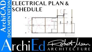 youtube HVAC Plan archicad electrical plan \u0026 schedule