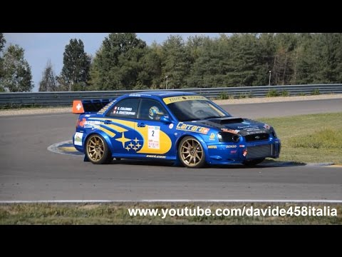 2x Subaru Impreza WRX Rally On Track