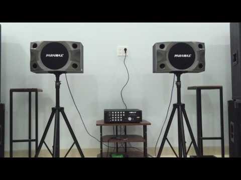 Bộ dàn nghe nhạc, karaoke Amply Paramax SA-1000 và Loa Paramax P-900