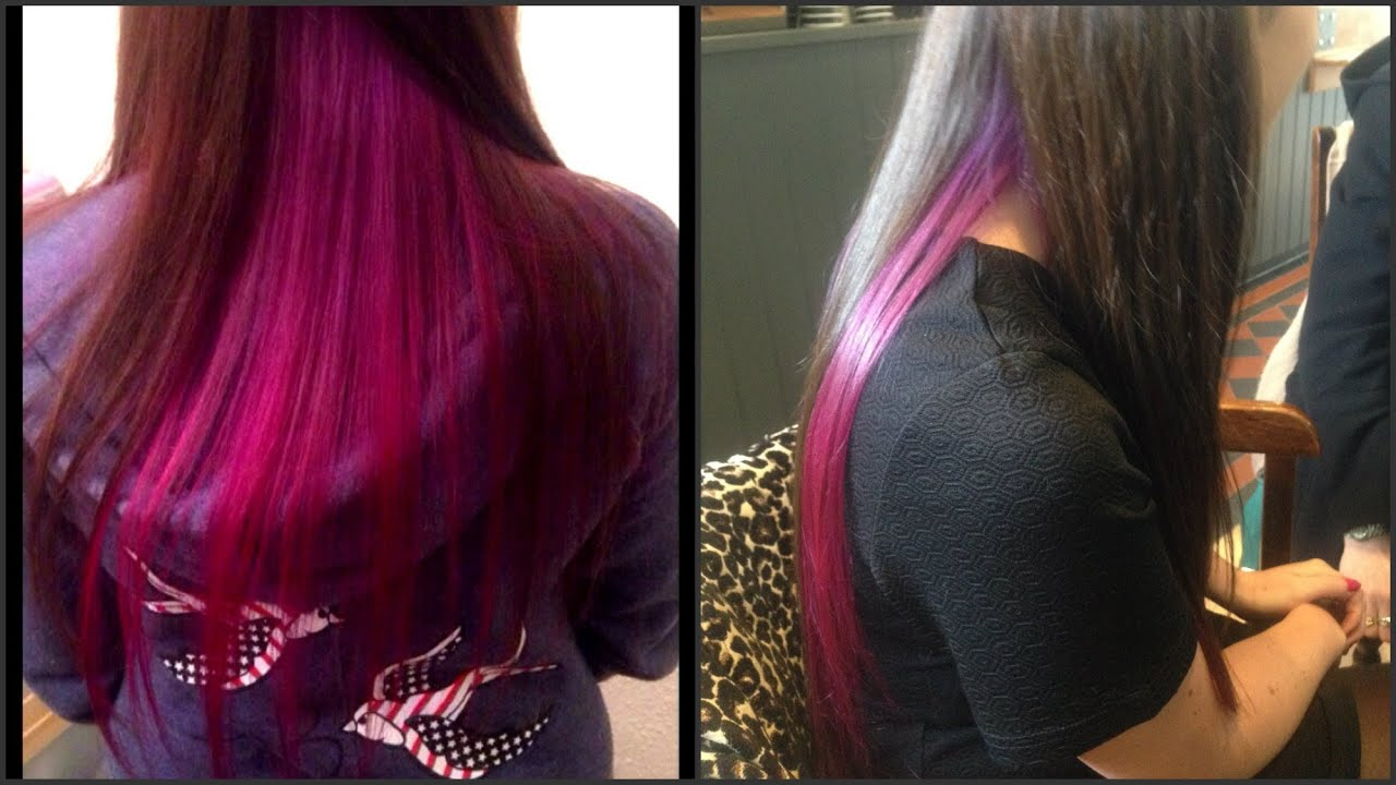 Dying My Sisters Hair Purple & Pink Ombré - YouTube