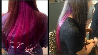 Dying My Sisters Hair Purple & Pink Ombré