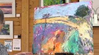 Painting Demonstration Landscape in Oil over Acrylic